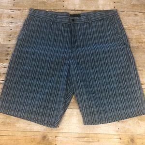 Men's Hurley plaid shorts size 36